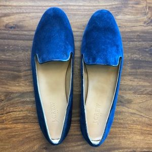 J Crew navy blue loafers never worn